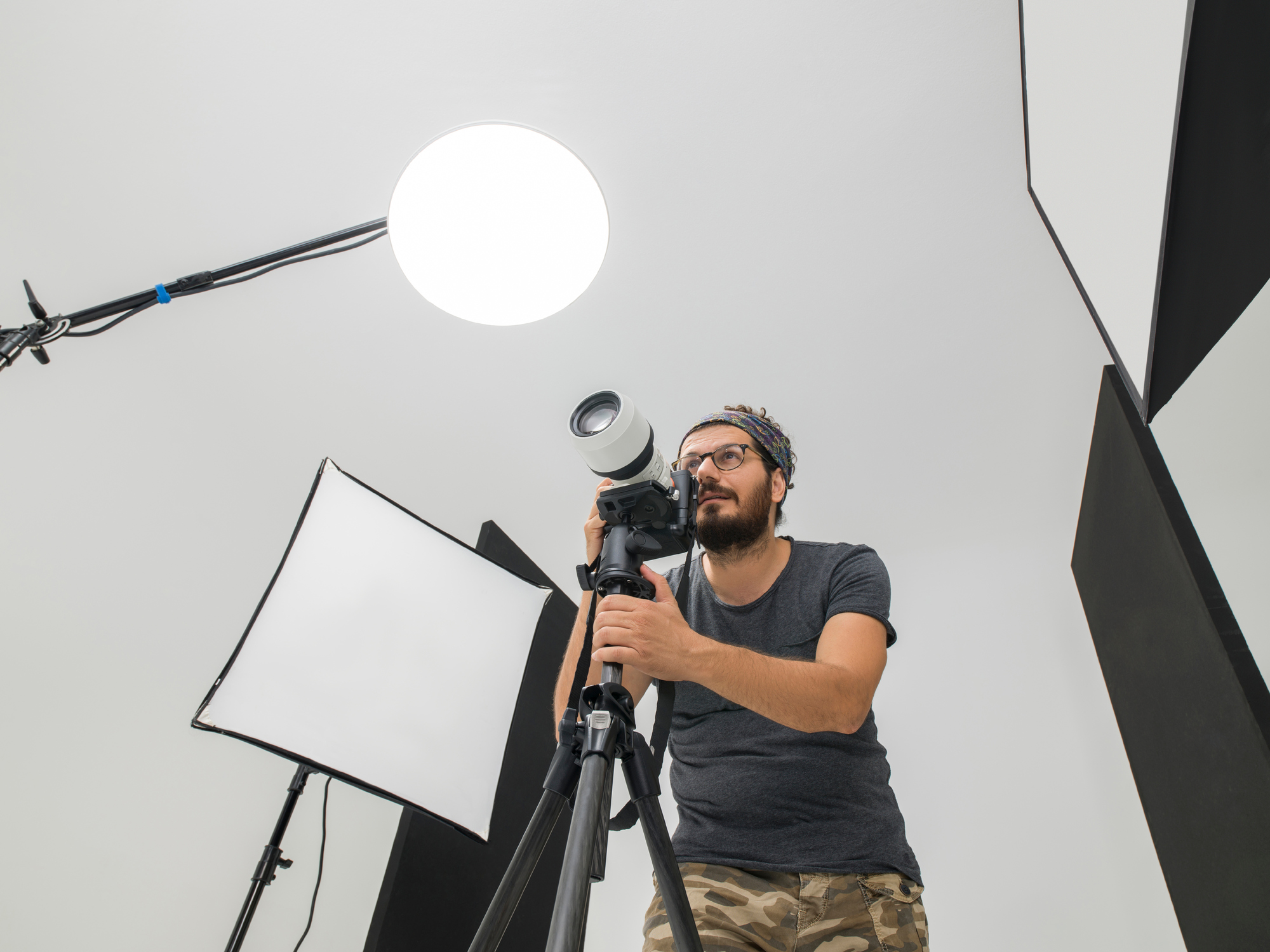 Grundutrustning för fotografering i studio